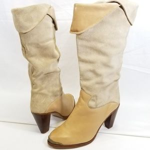 Vtg ZODIAC USA WOMEN'S 6.5M Leather & Suede Boots